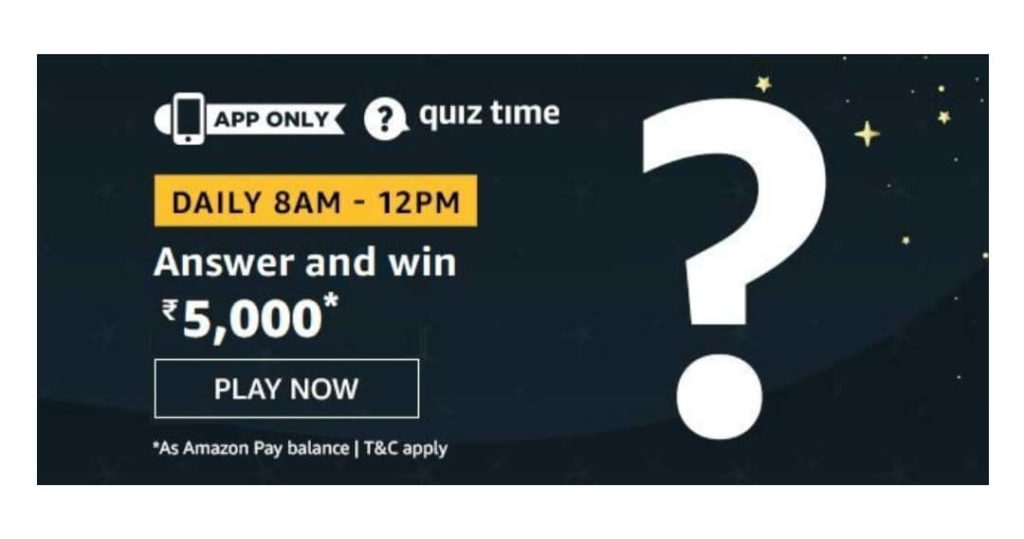 Amazon Quiz Answers 1st June 2020