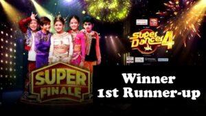 Super Dancer Chapter 4 Winner, Runner-up Names, Prize Money